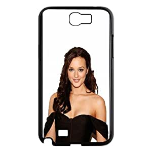 Celebrities Beautiful Leighton Meester Samsung Galaxy N2 7100 Cell Phone Case Black Exquisite gift (SA_649813)