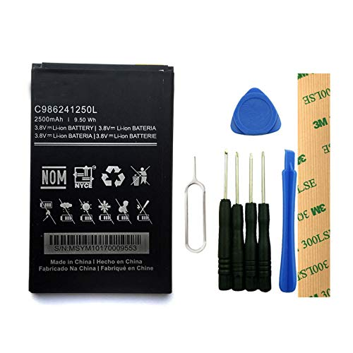 for BLU Studio Mega S610 Replacement Battery C986241250L Free Adhesive Tool ()