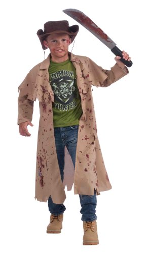 Child Killer Halloween Costume (Forum Novelties Zombie Hunter Complete Costume Kit, Child's Medium)