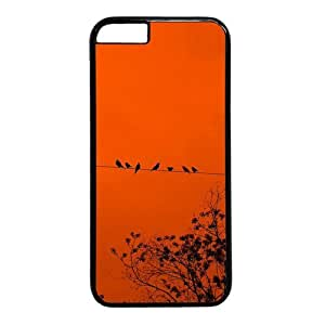 Birds On The Wire Theme Case for iphone 6 4.7 PC Material Black