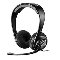 Sennheiser GSP 107 Binaurale Diadema Negro auricular con micrófono - Auriculares con micrófono (PC/Juegos, Binaurale, Diadema, Negro, Alámbrico, 3 m)