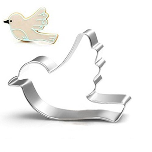 Hmlkeci Peace Dove Bird Cookie Cutter for Celebrations Christmas Birthday Party Wedding Holiday (Peace Dove) ()
