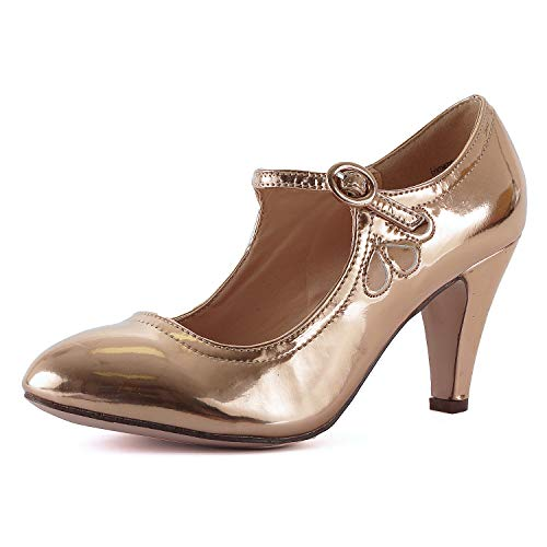 Guilty Heart | Kimmy-21 Rosegold Patent, 7.5