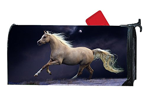 JuLeFan Running Horse Personalized Mailbox Cover Magnetic Fits Standard-Sized (Personalized Mailbox Covers)