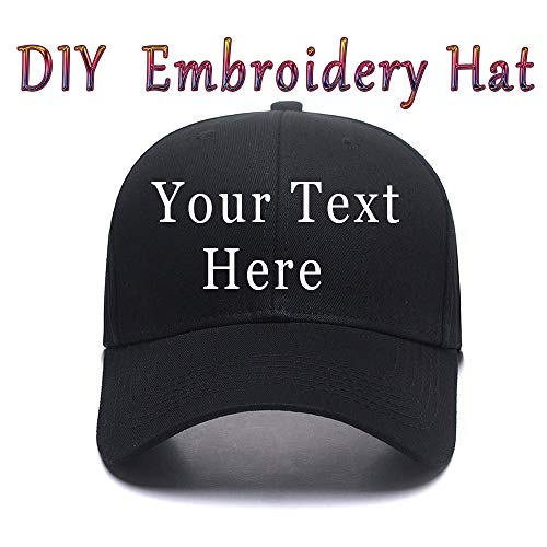 DIY Embroidered Baseball Hat,Custom Personalized Trucker Cap,Add Text(Single Double Line) ()