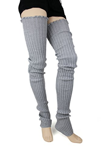 Foot Traffic Cable Knit Legwarmers, Grey