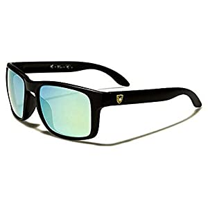 Khan New 2014 Kid's Retro Vintage Colorful Wayfarer Sunglasses (Black Blue Lens)