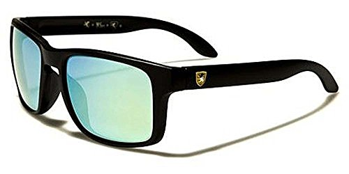Khan New 2014 Kid's Retro Vintage Colorful Wayfarer Sunglasses-KN482KD (Black Blue Lens)