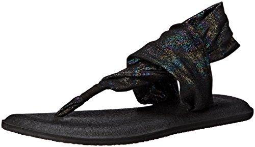 Sanuk Yoga Sling 2 Metallic Women's Sandal (8 B(M) US / 39 EUR, Black Rainbow)
