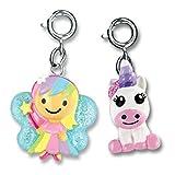 Charm It! Rainbow Fairy and Baby Unicorn 2 Charm Ribbon Bag Set