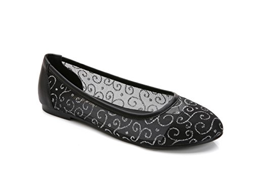 ComeShun Womens Shoes Lace Slip On Ballet Breathable Flats Black CBXWgbVKht