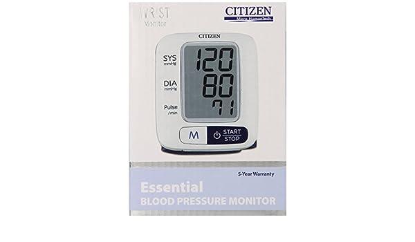 Citizen CH-680 muñeca monitor de presión arterial digital por Citizen: Amazon.es: Salud y cuidado personal