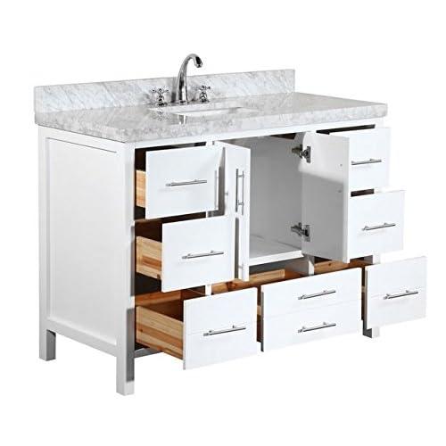 best Kitchen Bath Collection KBC039WTCARR California Bathroom