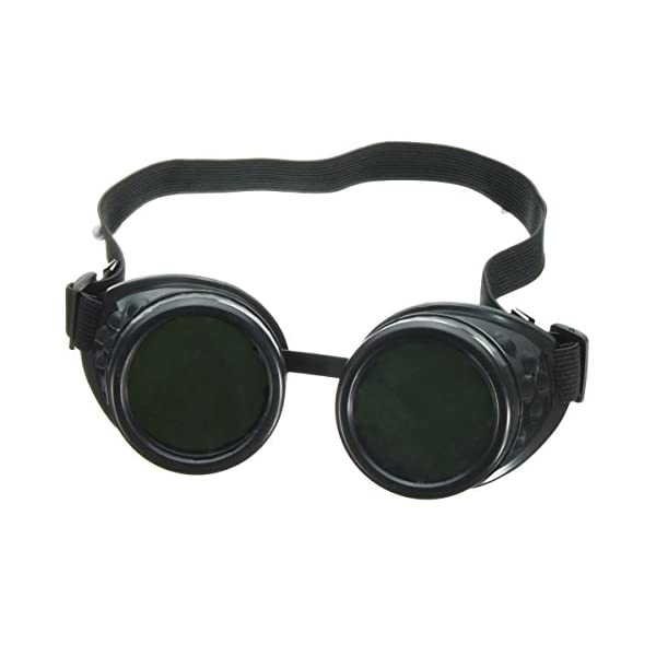 Nicky Bigs Novelties Steampunk Cosplay Goggles, Black, One Size 10