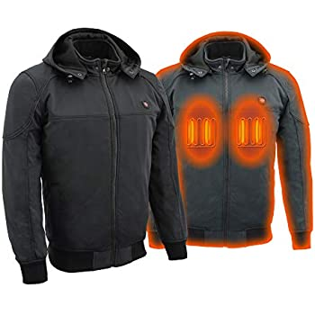 Milwaukee Performance Heated Soft Shell Men's Water Resistant Jacket - Battery Pack Included (BLACK, Large)