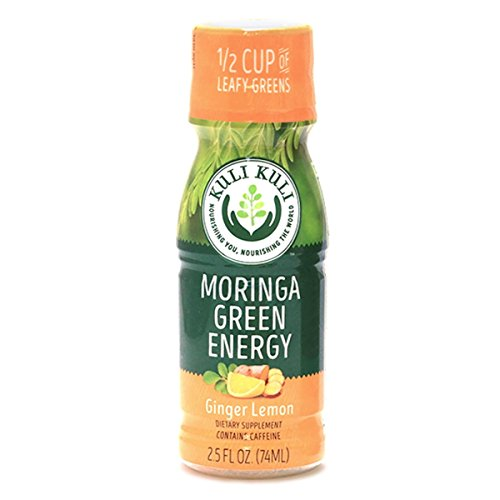 Ultra Tea Mate Diet - Kuli Kuli Moringa Green Energy Shots, Ginger Lemon, 2.5 Ounce Shots (12 Count), Natural Energy from Green Tea & a Leafy Green Superfood, Contains Caffeine, Equals Half a Cup of Leafy Green Vegetables