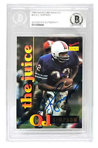 O.J. Simpson Signed Buffalo Bills 1995 Signature Rookies Trading Card #J3 - (Beckett Encapsulated)