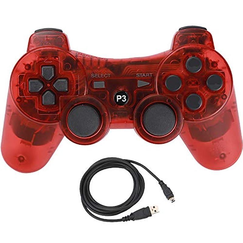Aoityle PS3대응 wireless 콘트롤러 호환 USB 케이블 부속 (투명 블루)