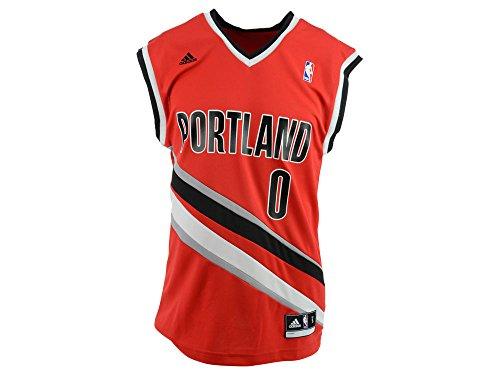 NBA Portland Trail Blazers Damian Lillard #0 Men's Replica Jersey, X-Large, Red