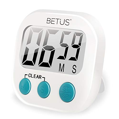 (Betus Digital Kitchen Timer - Big Digits, Simple Operation - Magnetic Backing or Table Stand - Stopwatch Count Up and Down for Cooking Baking Sports Games Office)