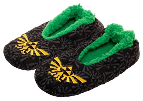 The Legend of Zelda Triforce Logo Cozy Unisex Adult Slippers (Large/X-large) from New Horizons Production
