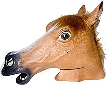 Máscara animal caballo marrón