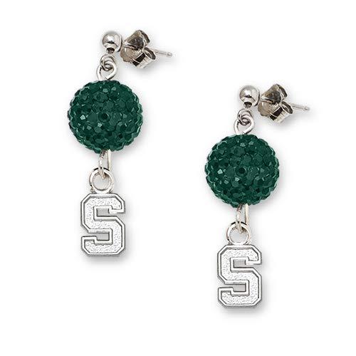 LogoArt Michigan State University Crystal Ovation Earrings