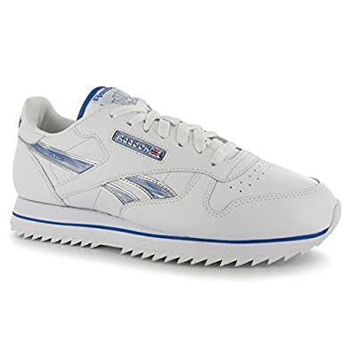 Reebok Mens Classic Leather Etched Ripple III Trainers Sports Shoes Footwear WhiteBuffBlue UK 65