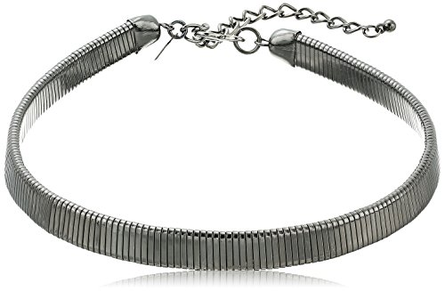 Kenneth Jay Lane Gunmetal Snake chain Choker Necklace, 13