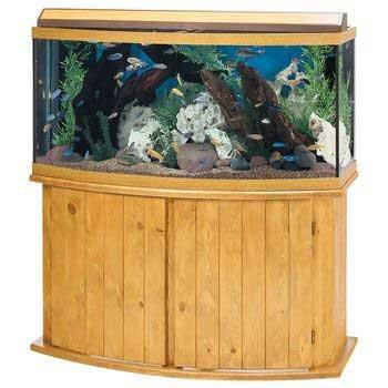 Amazon Com All Glass Aquarium Co 72 Gallon Pine Bow Front Fish