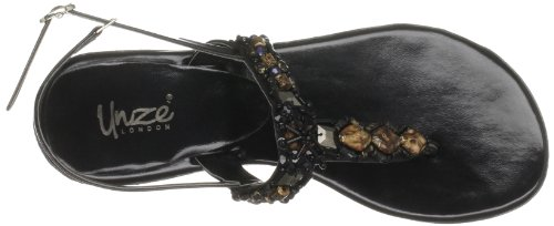 Evening Flip Black flops Unze L18531W Womens Sandals dqFYdxtO