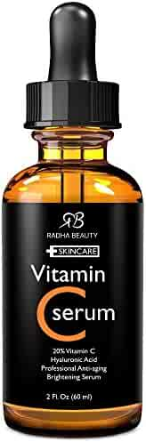 Radha Beauty Serum for Youthful Skin and Face, 2 fl. oz (Vitamin C)