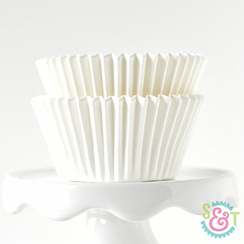 Solid White BakeBright Greaseproof Cupcake Liners
