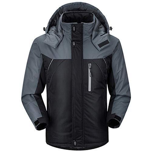 (Winter Down Jacket Men Parkas Jacket Coat Outwear Men Jackets Windproof Waterproof Coats,Black,XXXL)