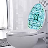 Toilet Decal Star Side Square Shaped Kaleidoscope