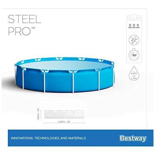 Bestway 56677 | Steel Pro – Piscina Fuori Terra Rotonda, 305X76 cm