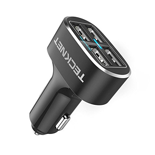 4 Port Car Charger,TeckNet 9.6A/48W USB Travel Car...