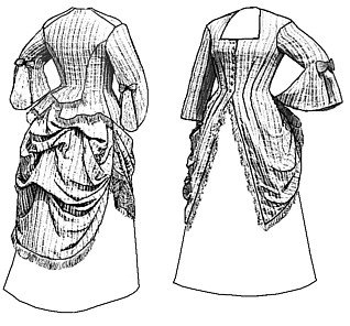 Victorian Dresses | Victorian Ballgowns | Victorian Clothing 1873 Polonaise Pattern                               $17.73 AT vintagedancer.com