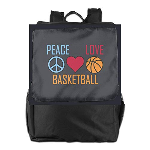 College Women Laptop Travel Men Hgfdhfgjrfj Heart Basketball School Peace Bookbag Love Backpack Fw6npqHz