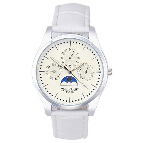 SamMoSon Relojes Hombre Resistentes Al Agua Mujer Azul Elegantes,Hombre Cuarzo Dial Cuero Analógico Reloj De Pulsera Caso Redondo Reloj Café: Amazon.es: ...