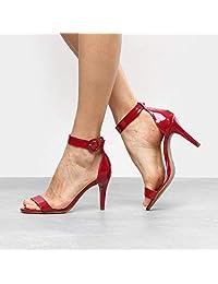 Sandália Drezzup Salto Fino Ankle Strap Feminina