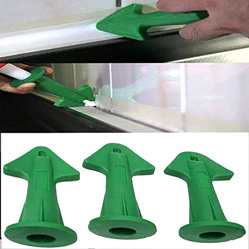 3Caulk Nozzle Applicator Sealant Finishing Tool Grout Scraper for Brick Joint US