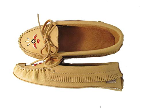Chief Padded Double Laurentian Moccasin Tan Sole Rpxq7dw