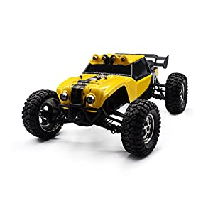 KELIWOW 1:12 4WD Waterproof RC Car with LED Lights 2.4GHz 25MPH Desert Off-Road Buggy (Yellow)