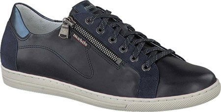 Mephisto Damesshawai Oxford Navy Silk / Indigo Velcalf / Blue Magic Leather