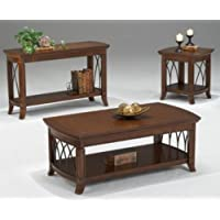 Bernards Cathedral Sofa Table in Cherry