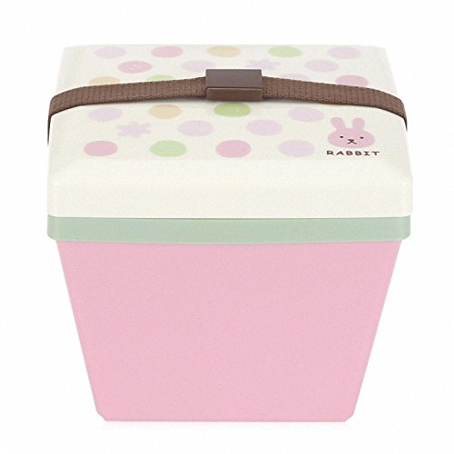 Price comparison product image Japanese bento boxes 2 Layer Cartoon animal lunch box containers with compartments Japanese Style Plastic lunch box set Pink