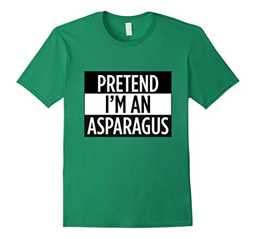Mens Pretend I'm An Asparagus - Funny Vegetable Costume T-Shirt Large Kelly Green