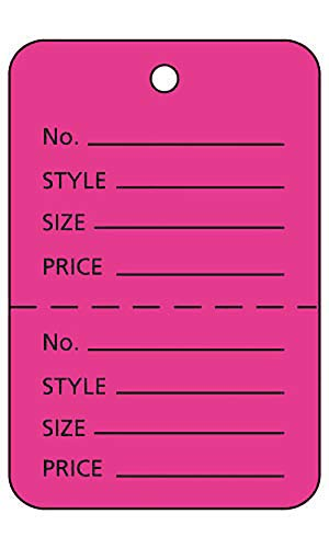 """Unstrung Pink Flamingo Perforated Coupon Price Tags (1¾"""" W x 2⅞""""H) - 1,000"""