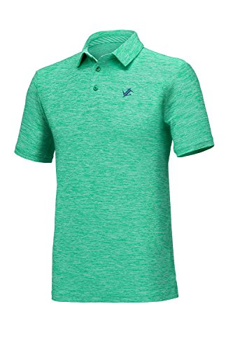 271cce1d Galleon - Jolt Gear Mens Dry Fit Golf Polo Shirt, Athletic Short-Sleeve  Polo Golf Shirts, Green (Laundry Bag Included)